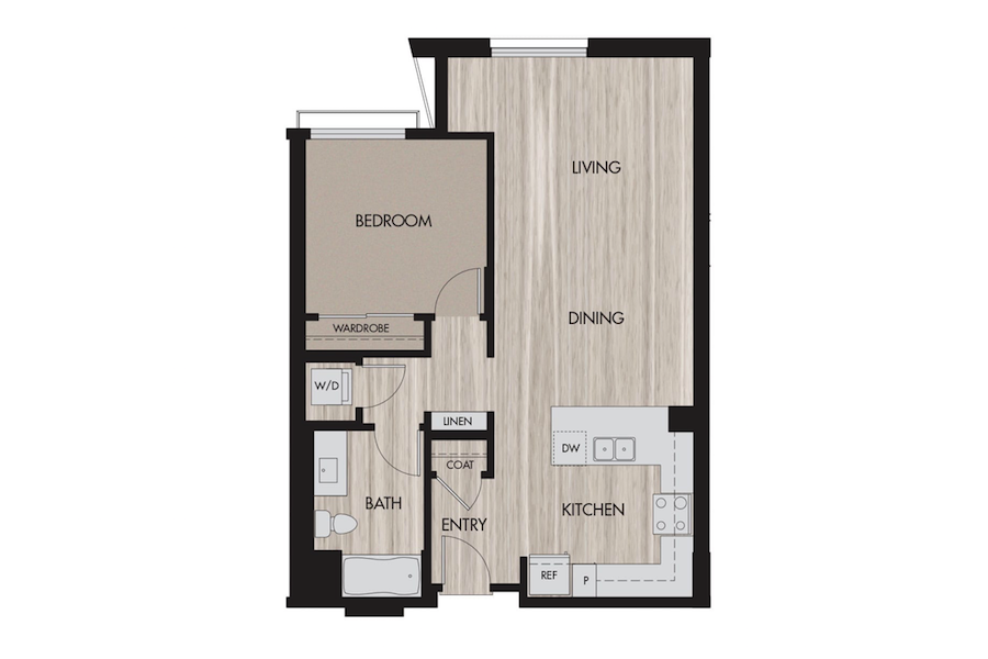 News from The Pierce - Extraordinary living: Plan E-1 at The Pierce