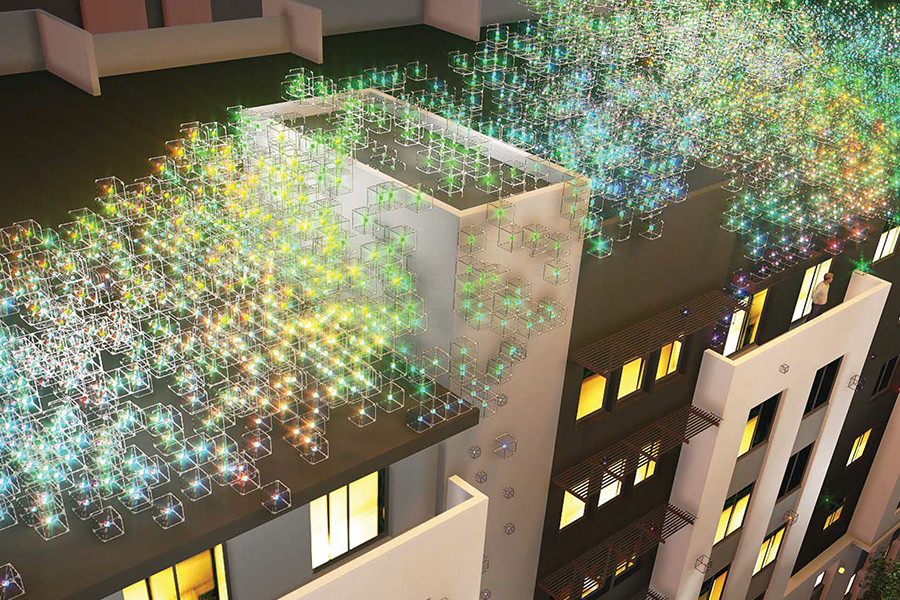 News from The Pierce - Bright ideas: The Pierce rooftop art light experience